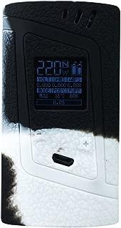 DSC-Mart Protective Case for Smok Alien 220W, Texture Silicone Skin Cover Sleeve Wrap Gel Fits SMOK Alien 220 Watt Kit Box Mod (Black-White)