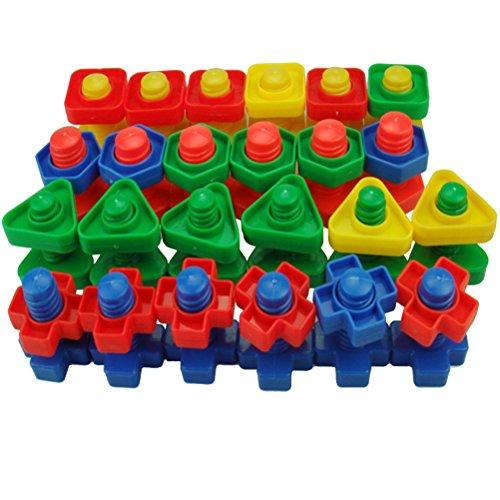 TOYMYTOY Schrauben und Muttern Set Kleinkind Bauklötze Spielzeug Sortierspiel