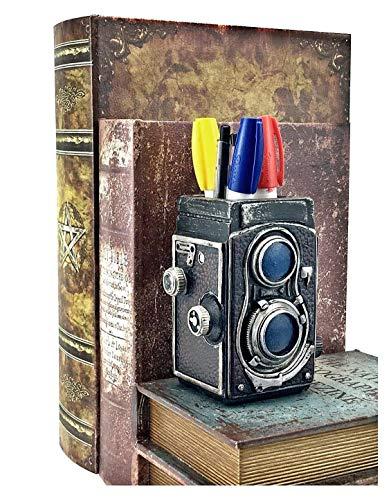 Bellaa 21390 Camera Pencil Holder Retro Pen Desk Organizer