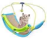 OSPet lit de chat avec chat d'été jeu d'activité Scratcher tapis et boules de jouet suspendus