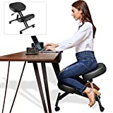 Himimi Ergonomic Kneeling Chair, Height Adjustable Stool with Thick Foam Cushions for Home and Office - Improve Posture to Relieve Neck & Back Pain, New Upgraded Pneumatic Pump