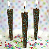 Let Them Eat Candles Edible Chocolate Candles, Milk Chocolate, Numbers, Pack of 3