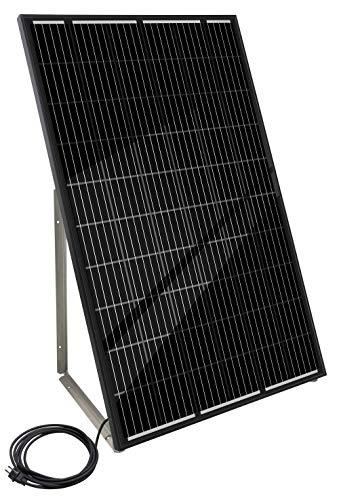 "Home-Solar-Modul 640Wp\""Full Black\"" (HSM640Wp + Gestell x2 + Anschlusskabel\""Schuko\"" 5m)"
