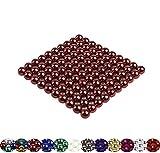 LaoSiJi Muchos Modelos: 100 magnético Bolas 5 mm para Pizarra, Pizarra magnética, frigorífico, Rojo