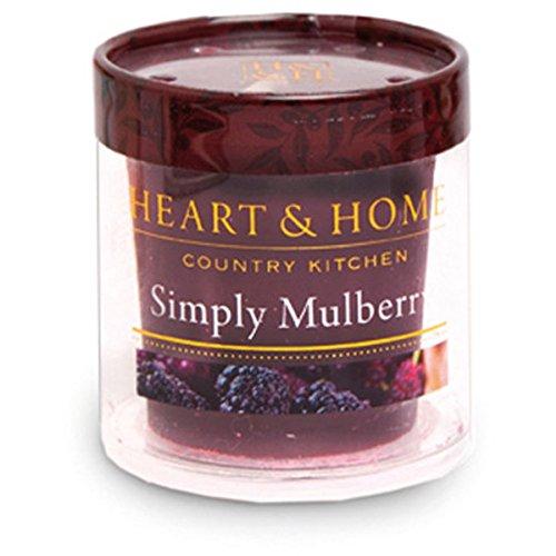 Heart & Home Votiv Simply Mulberry Bougie parfumée 53 g