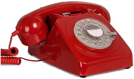 Vintage Telephone Retro Rotary Dial Telephone Vintage Landline Telephone Desk Phone red