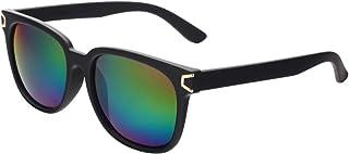 VIVIENFANG(ビビアンファン) レトロ クラシック Horned Rim ブラックフレーム 偏光レンズ UVカット サングラス P1833B Colorful