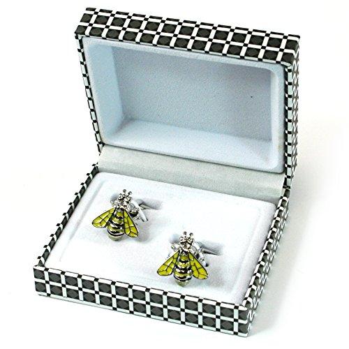 Bee Boutons de manchette – Cadeau Homme de style classique