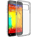 Galaxy S7 Case, LUVVITT [Clearview] Hybrid Scratch Resistant Back Cover with Shock Absorbing Bumper for Samsung Galaxy S7 - Crystal Clear