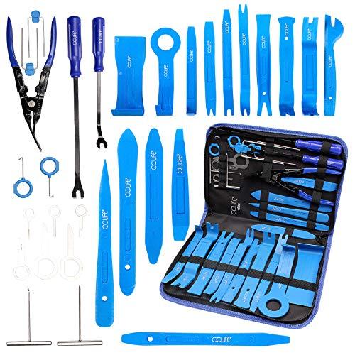 CCLIFE 31tlg Demontage Werkzeug Zierleistenkeile PP PA+ Verkleidungswerkzeug Ausbauwerkzeug...
