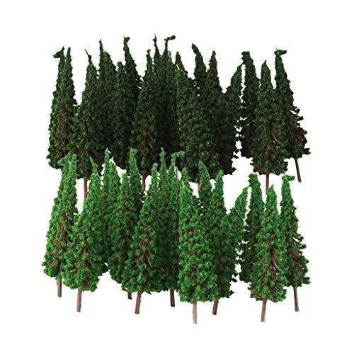 Hellery 100 / Paquete Modelo De árboles Escenografía Modelo Diseño Artificial Bosque Pluvial Diorama, Modelo De Construcción Árboles Topper De La Torta, Model