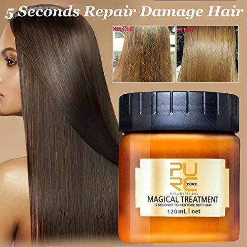 120ml PURC Magical Treatment Hair Mask Nutrition Infusing Masque 5 Seconds Repairs Hair Damage Restore Soft Hair