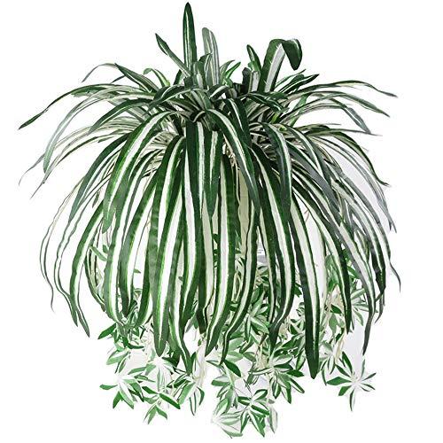 Aisamco 3 Stück künstliche hängende Pflanzen künstliche gefälschte Girlande Grün für Hauswand Garten Hochzeit außerhalb hängende Dekoration