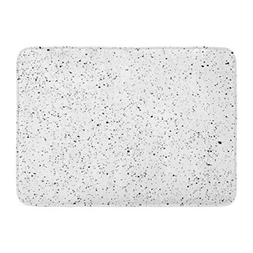 NCH UWDF Felpudos Alfombras de baño Alfombrilla de Puerta Acuarela Speckle Blob Patrón de Ruido Blanco Negro Pintura de Salpicaduras 15.8'x23.6'