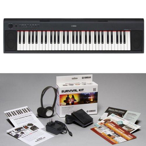 Yamaha NP-11 KIT | Piaggero 61-Key Portable Digital Piano with Surivival Kit D2