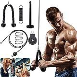MKIU Fitness Pulley Cable System, DIY Heben Trizeps Seilmaschine Mit Heavy Duty Pulley System Einstellbare Länge Home Gym Sport Zubehör