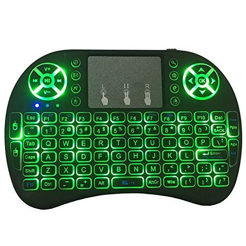 Preisvergleich Produktbild Nordira Mini Tastatur,  2.4 GHz Mini Backlit Wireless Touchpad Tastatur Air Mouse für Laptop PC TV Box Tastatur