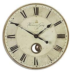Uttermost Harrison Gray 23-Inch Wall Clock