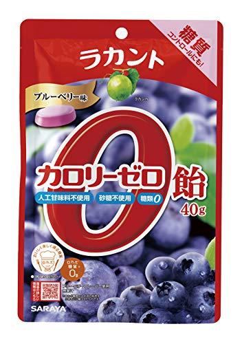 サラヤ ラカントカロリーゼロ飴 ブルーベリー味 40g ×6袋