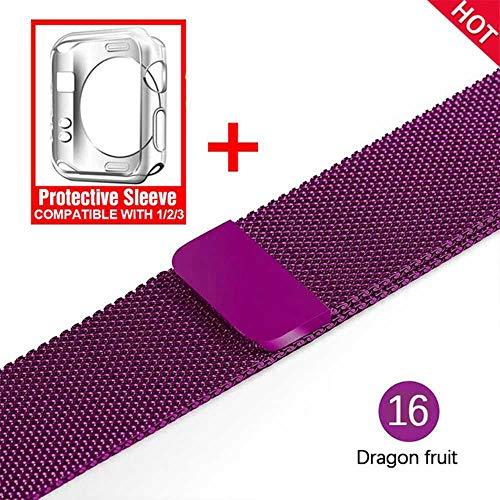 LANGY Adatto per iwatch Watch Series 1 2 3 4 5 40Mm 44Mm42Mm 38Mm Cinturino e Cinturino in Acciaio Inossidabile con Cinturino Milano