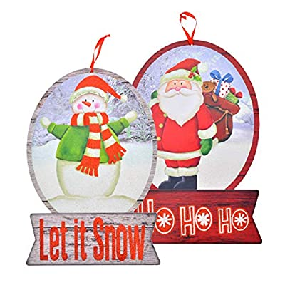 Christmas House Wooden Signs - Sets of 2