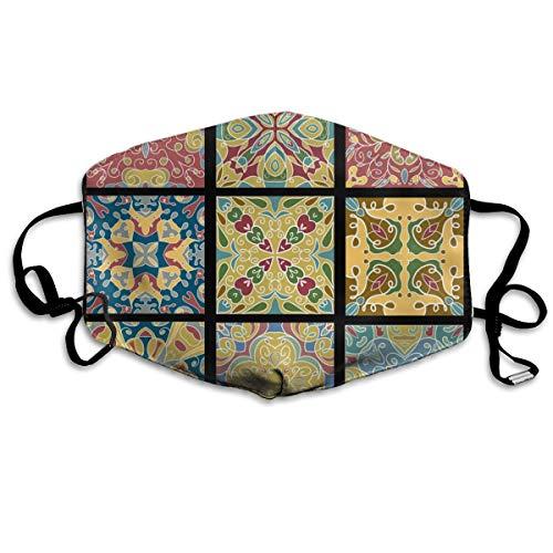 Houity stofdicht wasbaar masker, keramische tegels voor Marokkaanse vintage wijn, zacht, ademend, wasbaar, knop verstelbare masker, geschikt voor mannen en vrouwen maskers