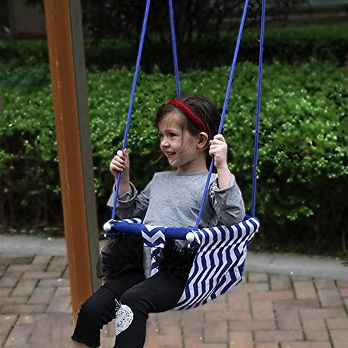 AoFeiKeDM Kinderschaukel aus Segeltuch, handgefertigt, zusammenklappbar, sicher zum Aufhängen, für drinnen und draußen, Hängemattenspielzeug