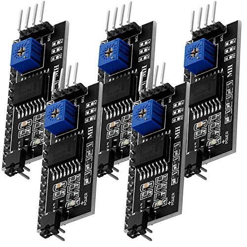 AZDelivery ⭐⭐⭐⭐⭐ 5 x I2C IIC Adapter serielle Schnittstelle für LCD Display 1602 und 2004 mit gratis eBook!