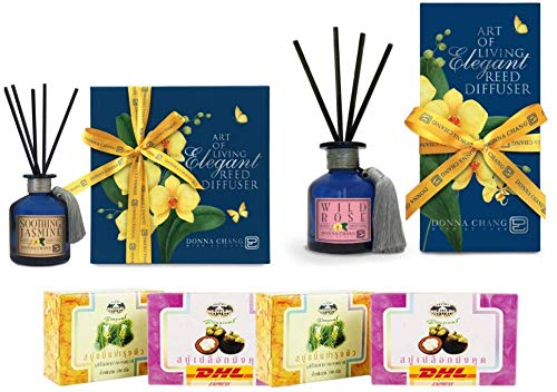 Sale special price Set A40 Donna Chang Max 51% OFF Soothing W Diffuser Reed Jasmine