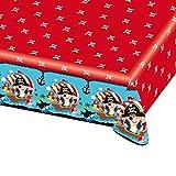 NET TOYS Farbenfrohe Tischdecke abwaschbar Pirat | 120 x 180 cm | Schöne Party-Deko Tischdekoration Piratenparty | Bestens geeignet für Kindergeburtstag & Kinderfeiern