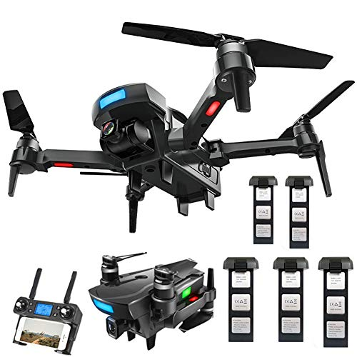 YOLL RC Quadrocopter Faltdrohne,GPS Drohne mit 4k HD Kamera,5G WiFi FPV Live Übertragung,250M Reichweite,120��Weitwinkel,Follow-Me,App-Steuerung,25Minuten Flugzeit,für Anfänger/E