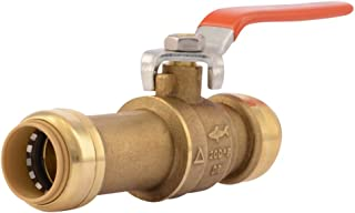 SharkBite 24736LF Slip Ball 3/4 Inch, Water Valve Shut Off, Push-to-Connect, Copper, CPVC, PE-RT