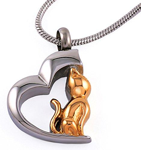 Urns UK crematie as hanger sieraden met stalen ketting, Chelsea ontwerp 78B