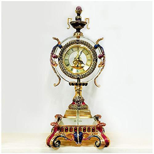 DAMAI STORE Cloisonné Uhr/Kristallglas Elektronische Uhren/Wohnzimmer Tischuhr Hauptdekoration/Hauptdekoration 20 * 43.5cm