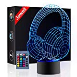 Christmas Gift Headset 3D Illusion Lamp Night Light Beside Table Lamp, Jawell 16