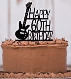 Electric Bass Guitar Cake Topper with Keepsake base, Musician, Band, Guitar Player, Music, Happy Birthday, any age, Personalize, Party Decor, Keepsake