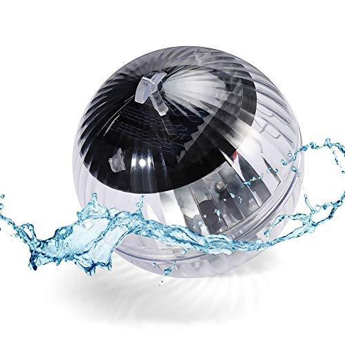 Solar Schwimmendes Pool Licht, Schwimmendes Teichlicht, Wasser Schwimmende Lampen, Solar Schwimmkugel Wasserlicht Teichbeleuchtung Farbwechse für Garten Baum Pool Teich Dekoration