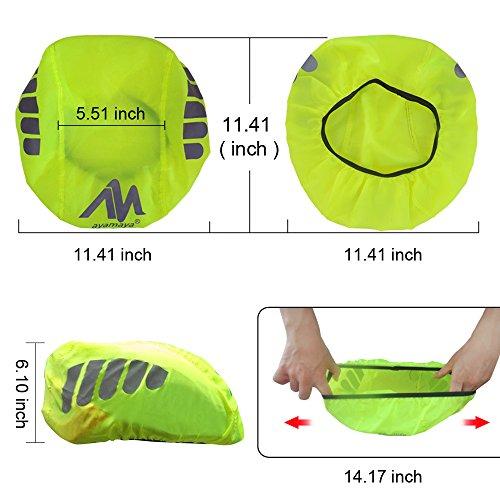 2win2buy Helmüberzug, Fahrrad Wasserdicht Helmregenüberzug Regenschutz Helmschutz mit Reflektierendem Aufdruck Wind & Sonne Schutz - 5