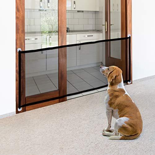 Namsan Hundeschutzgitter Treppenschutzgitter Ohne Bohren Hund Türschutzgitter Einfach zu Installieren Absperrgitter Tür für Haustiere 180 X 72 CM