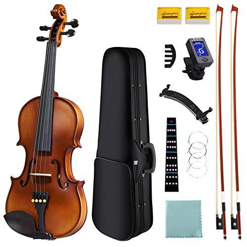 DEBEIJIN Violin for Kids Beginners - Upgrade Exceptional Tone Kids Violin - Ready To Play 3/4 Violin - Solid Wood Handcrafted Beginner Violin