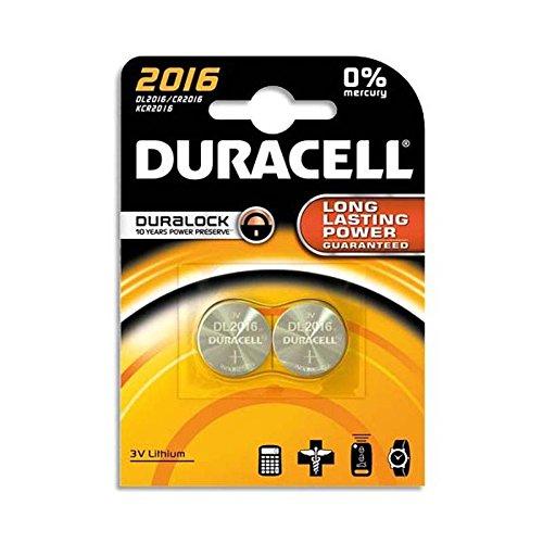 Lot de 2 Blisters de 2 piles 2016 Lithium Duralock pour appareils électroniques