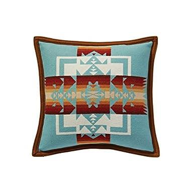 Pendleton Chief Joseph Wool Pillow, Aqua, Small