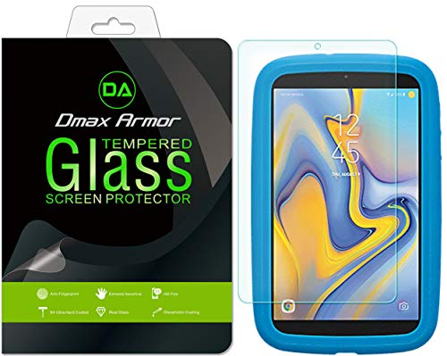 [1-Pack] Dmax Armor for Verizon Gizmo Tablet by Samsung (2018) Screen Protector, [Tempered Glass] 0.3mm 9H Hardness, Anti-Scratch, Anti-Fingerprint, Bubble Free, Ultra-Clear