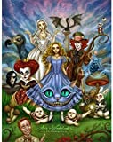 Edzxc- Classic Puzzle Decoration Puzzle Children Puzzle Intellective,Educational Gamesis Ideal As A Gift For The Whole Family- Cartoon Alice In Wonderland(52X38cm)