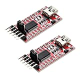 Yizhet 2pcs FTDI Adaptador FT232RL USB a TTL Serial Adaptador Convertidor 3.3V 5.5V Module para Arduino y Raspberry Pi