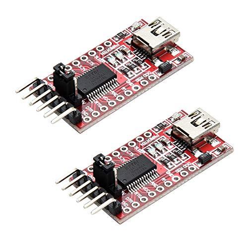 Yizhet 2X FTDI Serial Adapter FT232RL USB zu TTL Adapter 3,3V / 5V Modul Mini Port für Arduino und Raspberry Pi