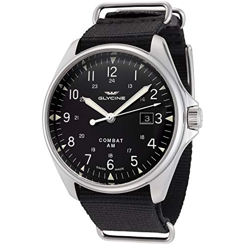 Glycine Combat Vintage Mens Analog Automatic Watch with Nylon Bracelet GL0123