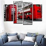 Blaesusky Lona Pintura Moderno Mural 4 Panelesimagen Decoración De Pared Modular Póster Enmarcado 120 * 80 Cm 4 Paneles De La Ciudad Moderna De Londres Lienzo Pintura En La Pared Cuadros Modulares Vin