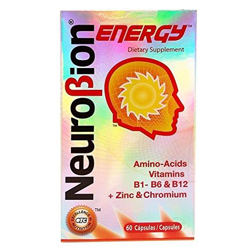 Neurobion Energy, 60 Capsules (3 Pack) - Amino Acids Vitamin B1 B2 B6 B12