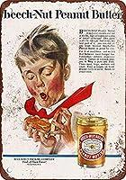 Peanut Butter メタルポスター壁画ショップ看板ショップ看板表示板金属板ブリキ看板情報防水装飾レストラン日本食料品店カフェ旅行用品誕生日新年クリスマスパーティーギフト